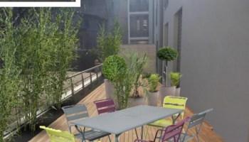 amnagement du toit terrasse dun appartement - Comment Cacher Le Vis A Vis Sur Une Terrasse