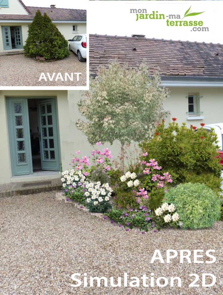Am nagement entr e monjardin for Amenagement entree de maison exterieur