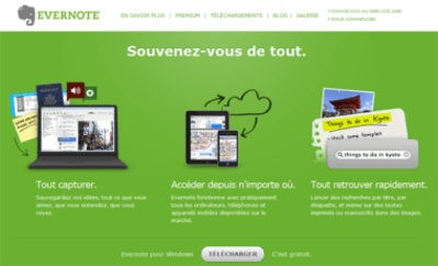 L'interface d'Evernote