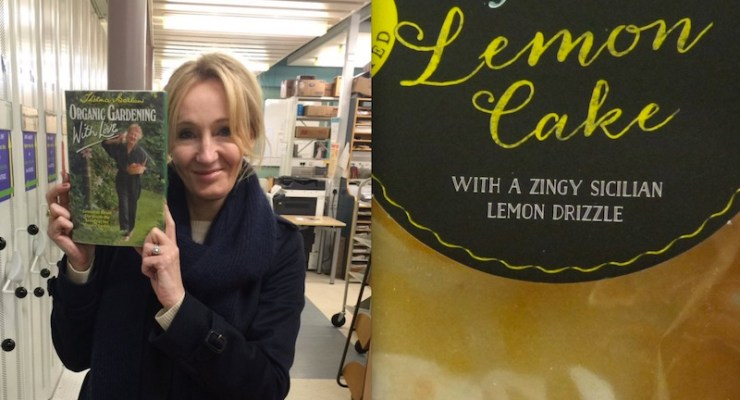 JK Rowling turns up at library's book group after they promise her cake