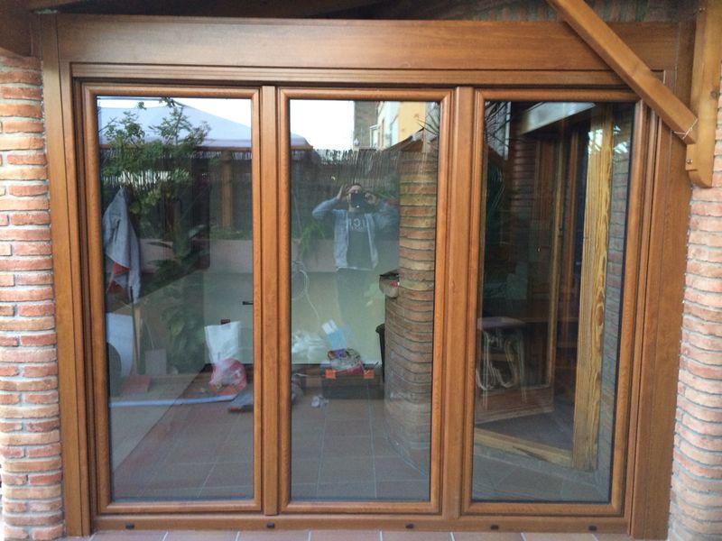 Ventanas de pvc madera carpinteria de aluminio - Puertas madera barcelona ...