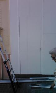 Puerta en panel camuflaje