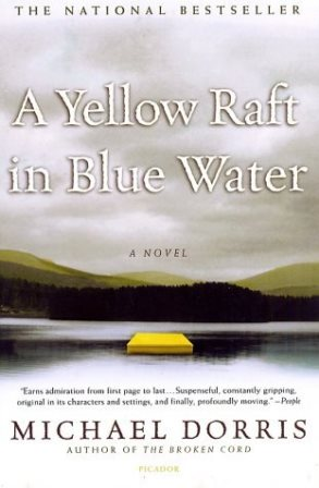 yellow raft blue water