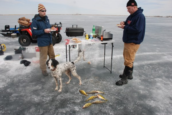 Montana Ice Fishing in March – A Guessing Game and A Sunburn for Jay Hansen
