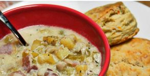 panfish-chowder-biscuits