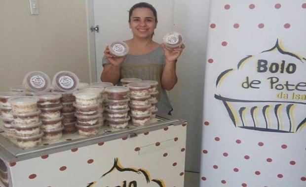 Isabela Carolina - Sucesso com bolo de pote