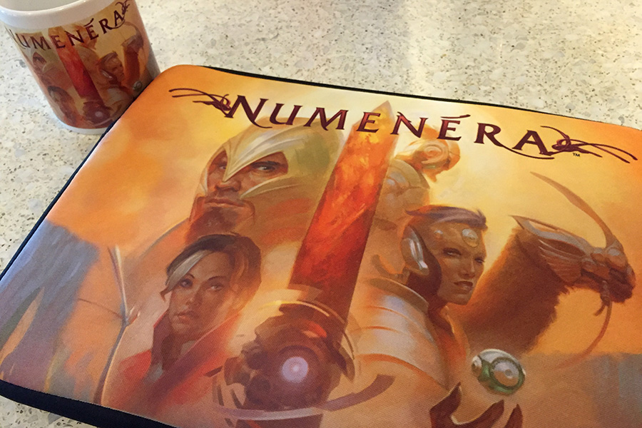 Red Bubble Numenera Laptop and Mug