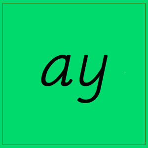ay sound with letters