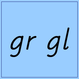gr and gl :: Blue Box 4 - Pictures and Words