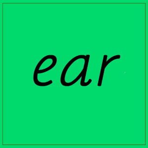 ear sound with letters