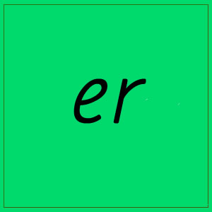 er sound with letters