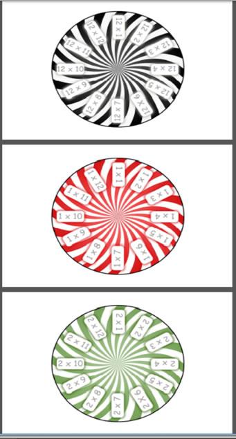 Multiplication circles 1 - 12