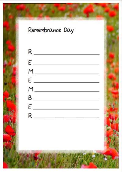 remembrance day acrostic poem templates montessorisoul