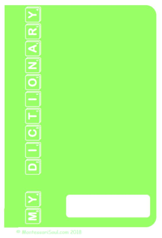 Personal Dictionary - Lime Green
