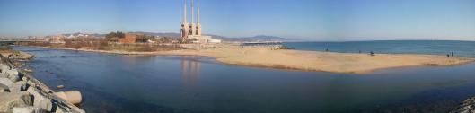 Desembocadura del Besós. Barcelona.
