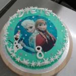 frozen taart olaf anna elsa