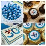bedrijven desserttafel dessertbuffet met logo viering 30 jaar factuur