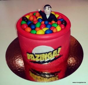 bazinga the big bang theory taart