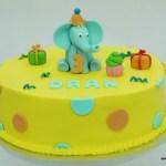 olifantentaart geel 3 jaar feest