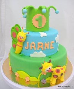 Baby tv vlinder giraf kroon taart