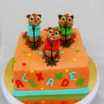 Alvin & chipmunks taart oranje