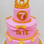 goud roze kroontje prinsessentaart