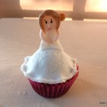 3D bruidje versierde cupcake bachelorette cadeau