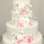huwelijkstaart mrs mrs witte en roze rozen 4 lagen bestellen geel olen herentals westerlo turnhout kempen mol retie dessel balen kasterlee
