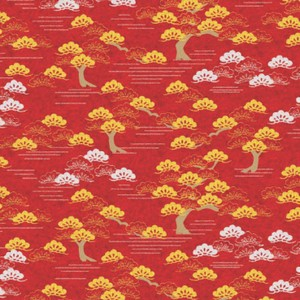 Origami Paper Pattern Free Download - Red Tree