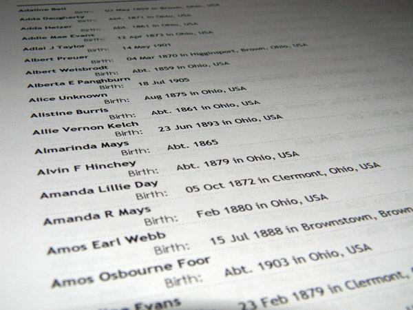Ohio Birth Report, 1856-1909