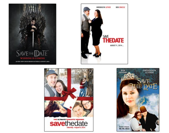 Save the Date Movie Poster Set