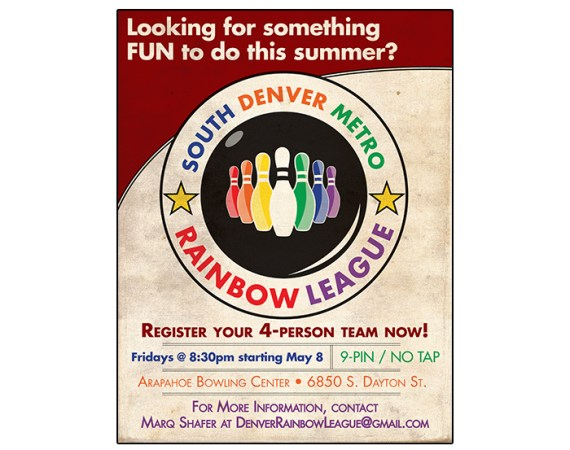 Rainbow Bowling League Poster