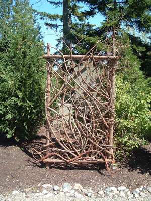 Hand Crafted Wooden gate by Moosehead Rustic Art