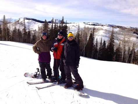 Family ski pic, Brenton, father and myself.