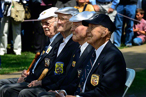 Major Thomas Griffn, 2nd from left