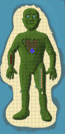 Human Body Map - Grass