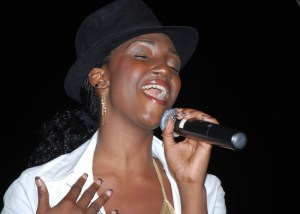 Keila Gumbs sings during her winning performance at the St. Maarten Green Synergy finale!