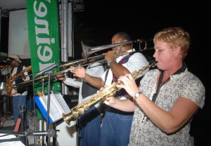 One White Chic Band plays during her winning performance at the St. Maarten Green Synergy finale!