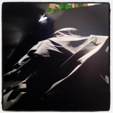 Critiquer, c'est se sentir plus fort que l'autre. Dans l'histoire, il y a des critiques passées à la postérité comme celles qui regardent les oeuvres de Michel-Ange. Ils se sentaient donc plus fort que celui qui est encore considéré 500 ans plus tard comme le plus grand artiste de tous les temps ! Ici, photo d'une photo de Robert Hupka de la Pietà de Michelangelo (à la Basilique Saint-Pierre de Rome) vue de dos. Tournons le dos aux critiques.