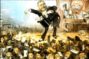 vintage editorial cartoon of President Chester A Arthur