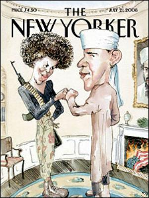 Michelle Obama and Barack Obama on The New Yorker