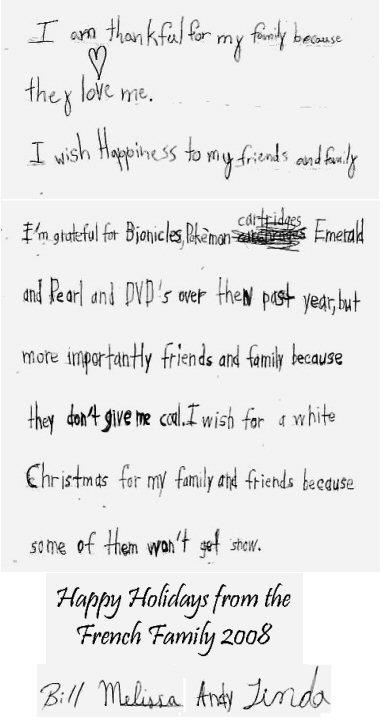 Holiday card 2008