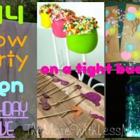 DIY Glow Party Teen Birthday Rave (on a tight budget)