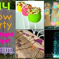 DIY Glow Party Teen Birthday (on a tight budget) - Decorations