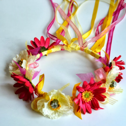 Ribbon and Flower Crowns