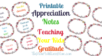 Printable Appreciation Notes