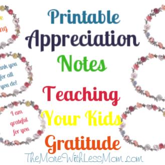 Printable Appreciation Notes