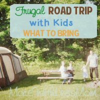 Frugal Road Trip with Kids – What To Bring