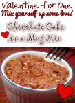 Valentine for One – Chocolate Cake In a Mug Mix
