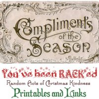 Random Acts of Christmas Kindness Advent Calendar - RACK Printables, Cover Photos, and Links